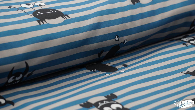Softshell monster stripes blue