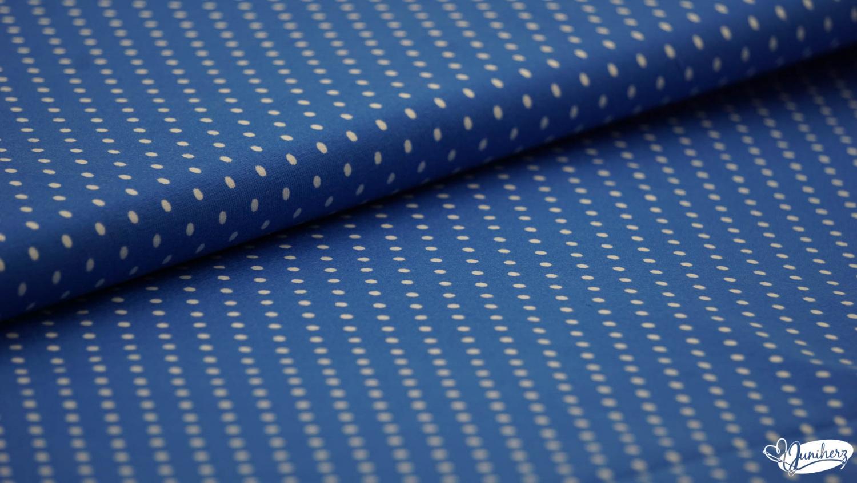 JERSEY - dots blau weiß