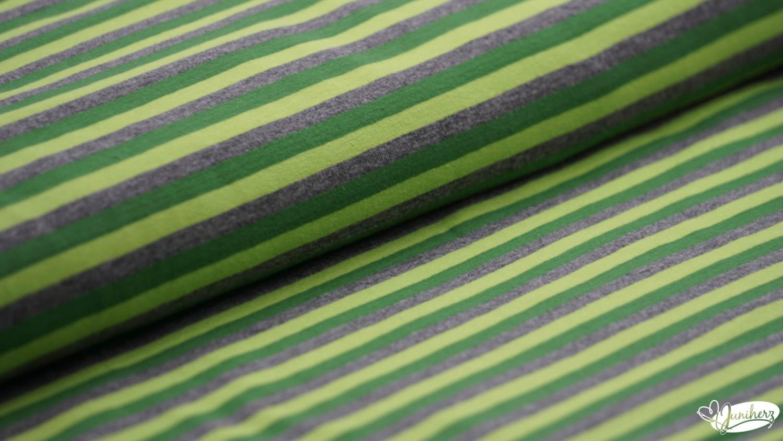 JERSEY - green stripes - dunkelgrün - grün - grau