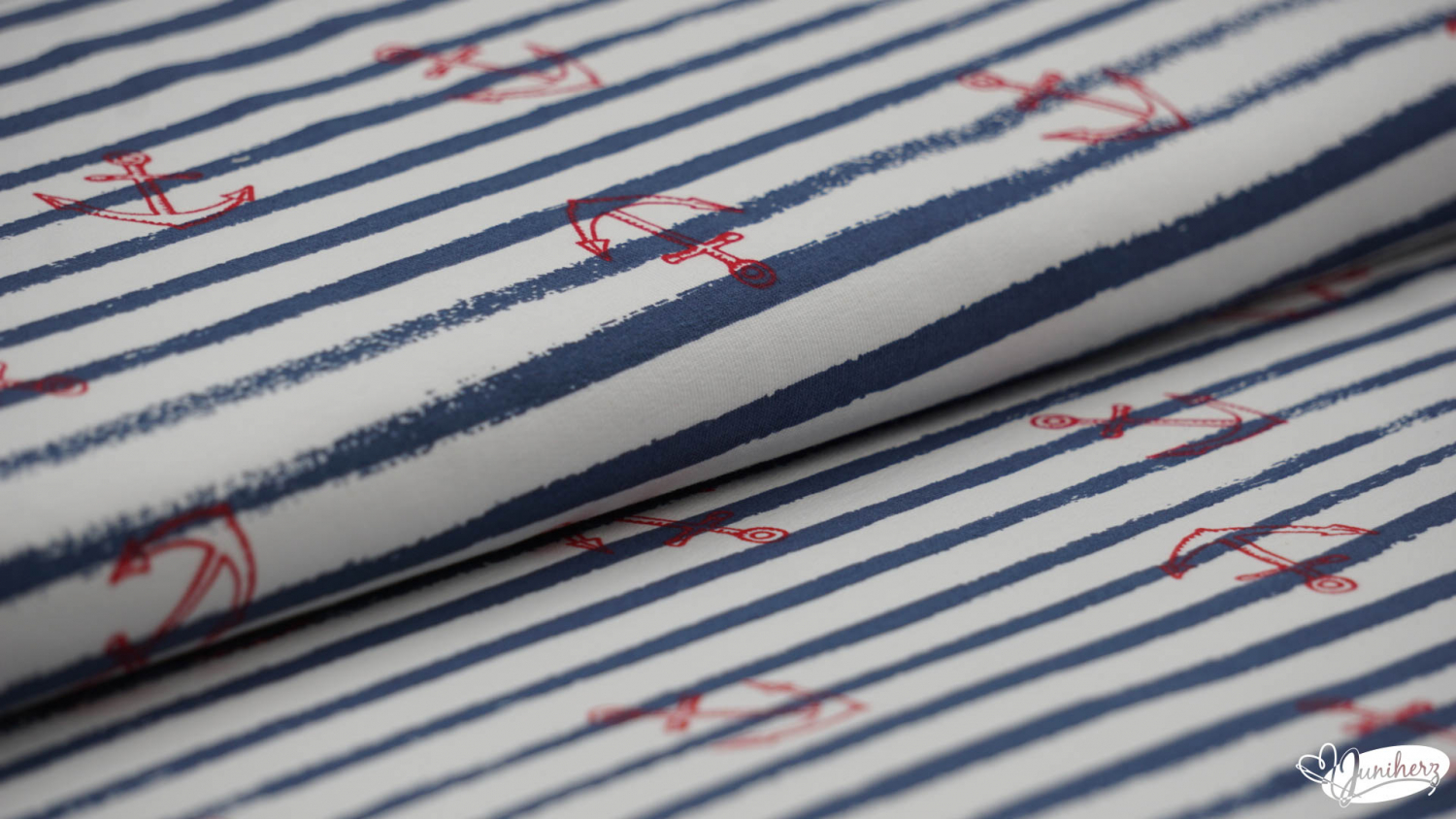 French Terry - print stripes Anker